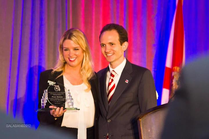 Richard DeNapoli and Attorney General Pam Bondi