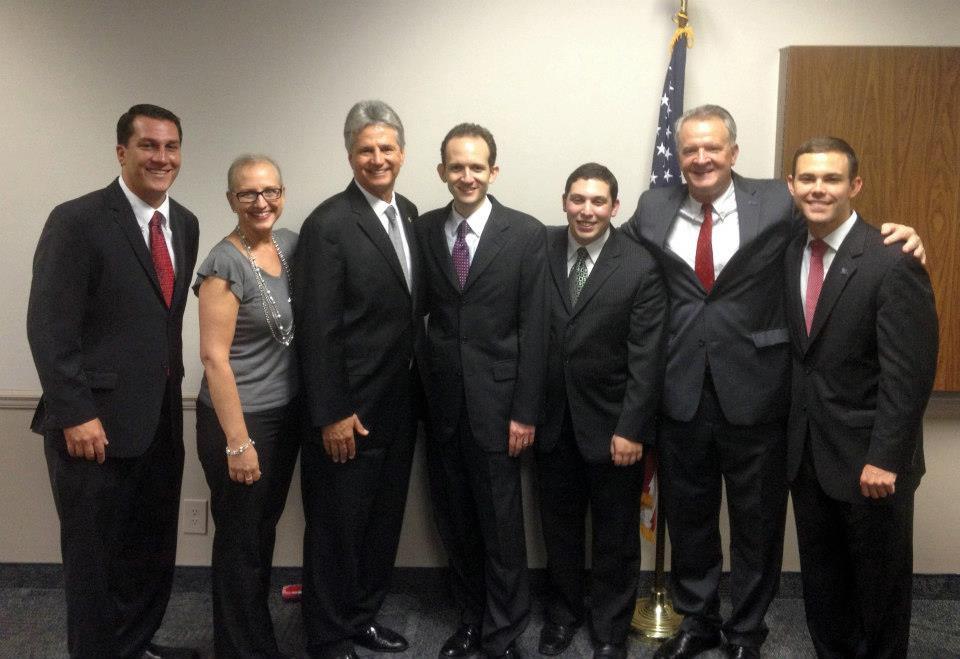 Richard DeNapoli, Mayor Vince Boccard, Commissioners Dan Daley, Tom Powers, Larry Vignola
