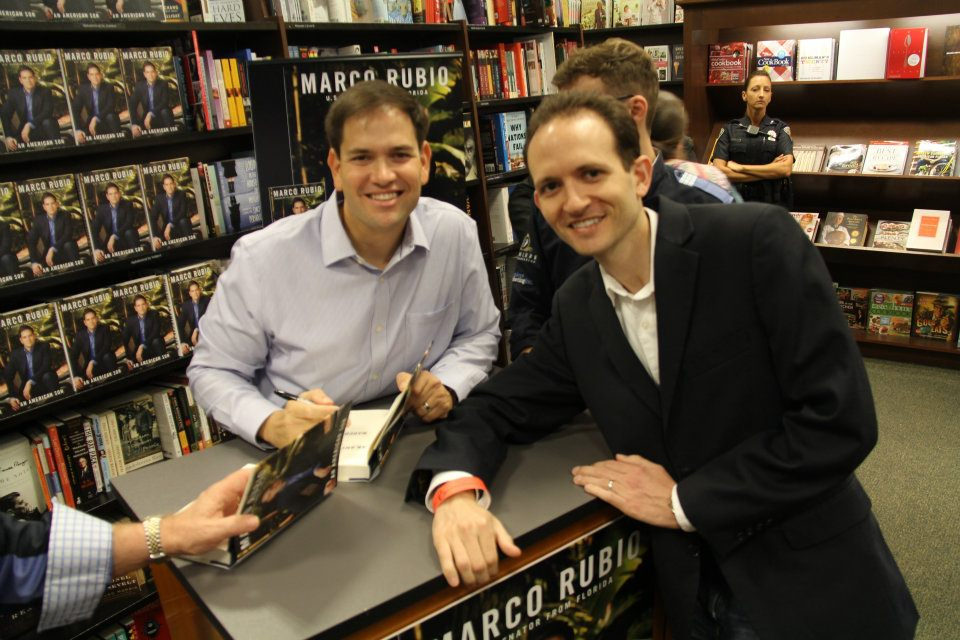 Richard DeNapoli at Senator Marco Rubio's Book Signing in Fort Lauderdale