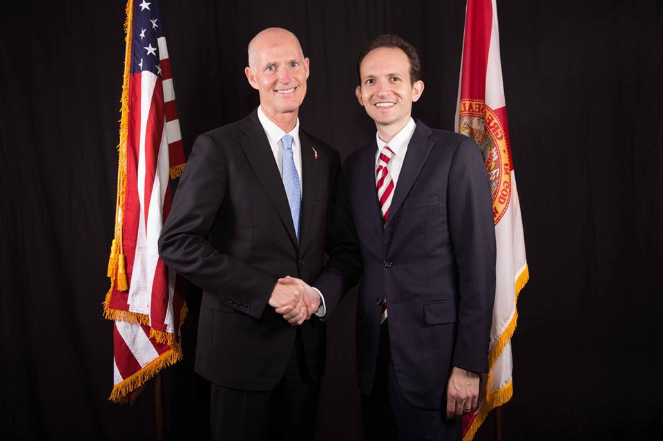 Richard DeNapoli and Governor Rick Scott
