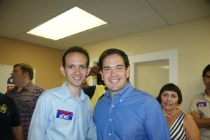 Richard DeNapoli with Marco Rubio at the Marco Rubio Rally in Coral Springs, September 25, 2010
