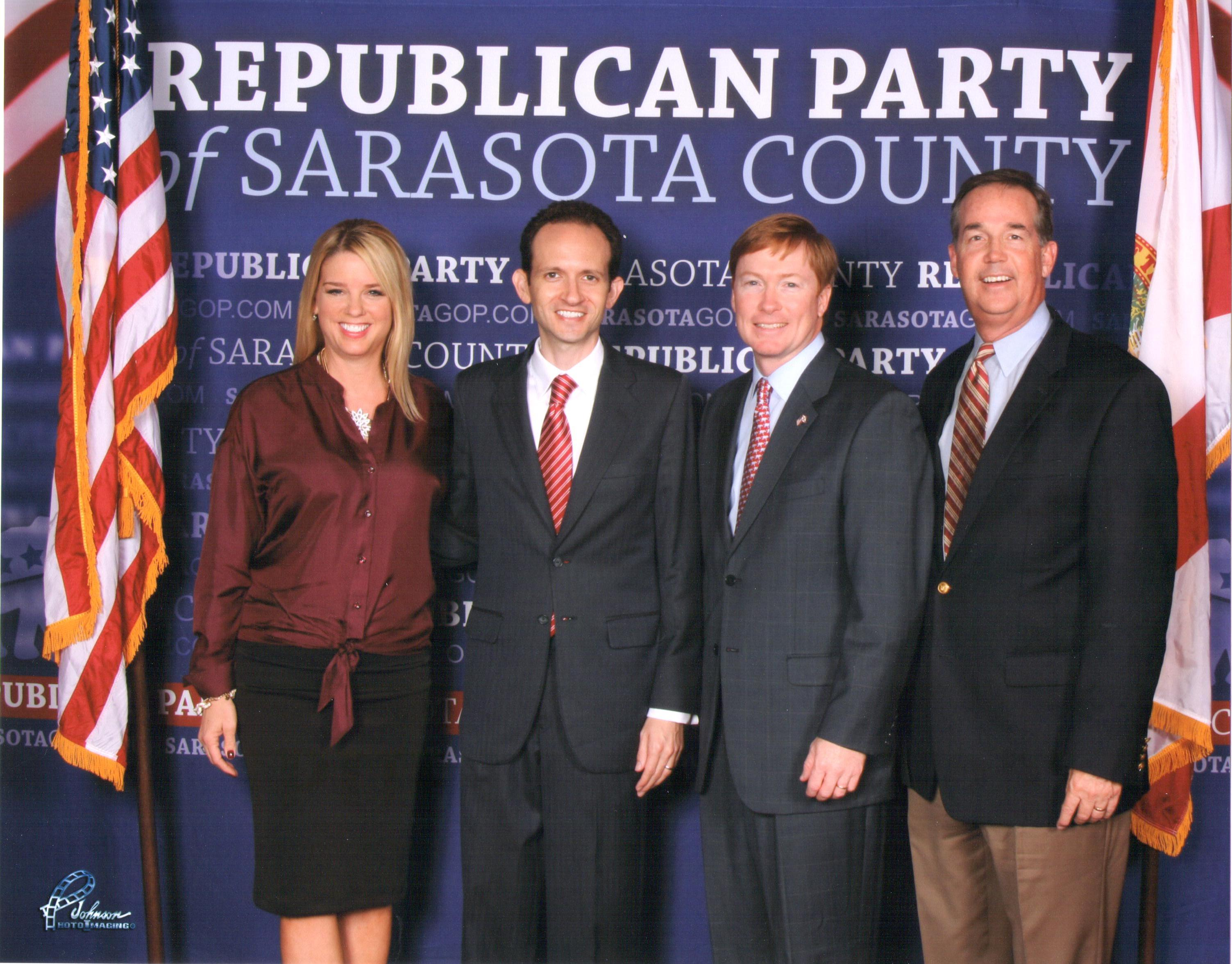 Richard DeNapoli at the Sarasota Statesman of the Year Event with Attorney General Pam Bondi, Commissioner of Agriculture Adam Putnam, and CFO Jeff Atwater