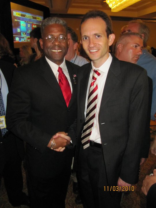 Richard DeNapoli with Allen West Victory Party in Boca on 11-2-2010