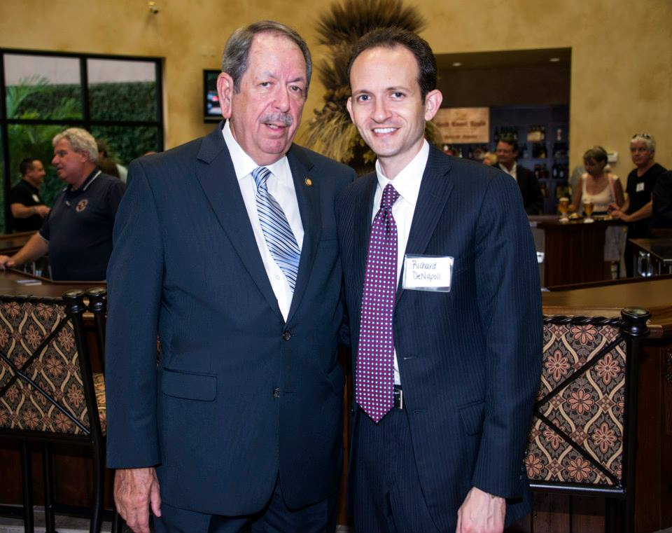 Richard DeNapoli and Representative Ray Pilon