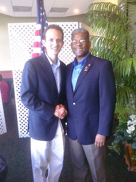 Richard DeNapoli with Allen West, Republican Congressional Candidate for Florida District 22 at the Broward GOP Unity Breakfast, 8/28/2010