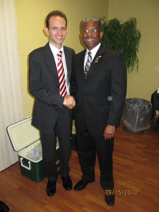 Richard DeNapoli with Allen West at the September 15th, 2010 Republican Business Network Meeting