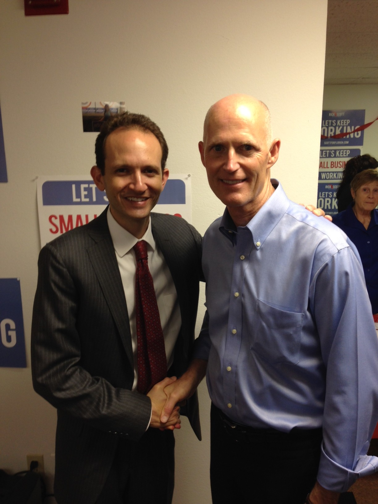 Richard DeNapoli with Rick Scott September 28 2014