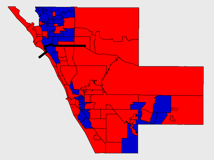 Sarasota County Precinct Results for 2014 Governor's Race with Clark Road Division Marked